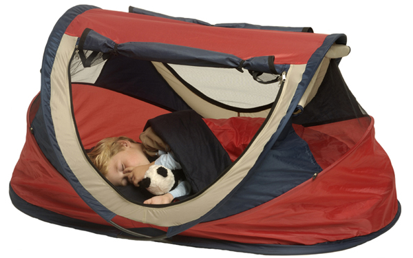 Nscessity Deluxe Uv Tent Travel Cot Red