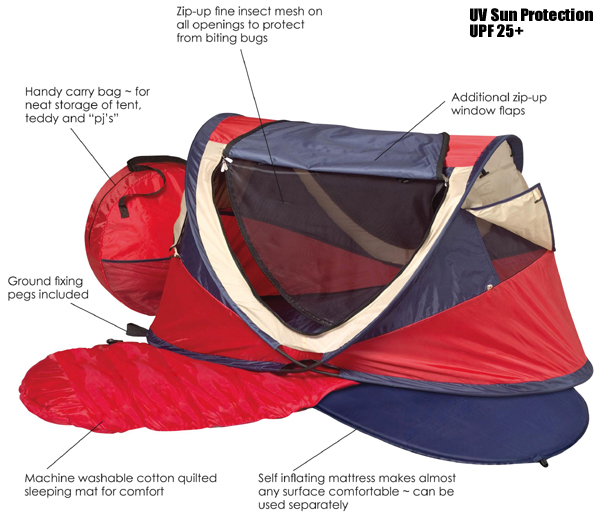 1  sc 1 st  Pushchairs & NSA Large Pop Up UV Tent/Travel Cot