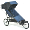 Baby Jogger Freedom with single fixed front wheel PLUS Optional Extended Footwell fitted - click for larger image