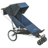 Baby Jogger Freedom with small swivel front wheels fitted - click for larger image