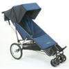 Baby Jogger Freedom with small swivel front wheels PLUS Optional Extended Footwell fitted - click for larger image
