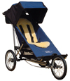 Baby Jogger Freedom with single fixed front wheel fitted PLUS Lambskin Comfort Liner - click for larger image
