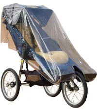Baby Jogger Independence with Extended Footwell & Extended Rain Cover - click for larger image