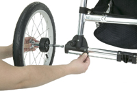 Baby Jogger Independence Rear Wheel - click for larger image