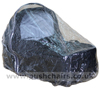 Standard Single Carrycot Rain Cover on a Mountain Buggy Carrycot- click for larger image