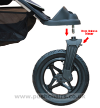 Baby Jogger City Elite Front Wheel - click for larger image