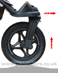Baby Jogger City Elite Front Wheel Suspension - click for larger image