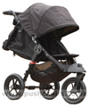 Baby Jogger City Elite Black with seat reclined and kicker raised - click for larger image