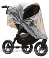 Baby Jogger City Elite Black with Rain Cover fitted - click for larger image
