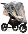 Baby Jogger City Elite Black with Lambskin Stroller Fleece & Rain Cover fitted - click for larger image