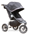 Baby Jogger City Elite Black with seat upright - click for larger image