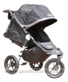 Baby Jogger City Elite Black with seat reclined - click for larger image