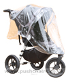 Baby Jogger City Elite Black with Rain Cover fitted- click for larger image