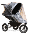 Baby Jogger City Elite Black showing zippered Rain Cover open - click for larger image