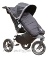 Baby Jogger City Elite Black with Black Outlast Snuggle Bag - click for larger image