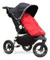 Baby Jogger City Elite Black with Red Outlast Snuggle Bag - click for larger image