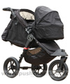Baby Jogger City Elite Black with Compact Carrycot Black - click for larger image