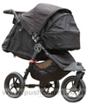 Baby Jogger City Elite Black with Compact Carrycot Black (sun hoods closed) - click for larger image