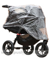 Baby Jogger City Elite Black with Compact Carrycot Black & Rain Cover - click for larger image