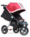 Baby Jogger City Elite Red Sport with seat reclined & kicker raised - click for larger image
