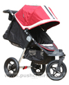 Baby Jogger City Elite Red Sport with seat reclined - click for larger image