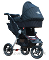 Baby Jogger City Elite Red Sport with Black Carrycot fitted- click for larger image