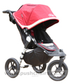 Baby Jogger City Elite Red Sport with seat upright - click for larger image