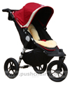 Baby Jogger City Elite Red Sport with Lambskin Stroller Fleece - click for larger image