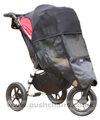 Baby Jogger City Elite Red Sport with Lambskin Stroller Fleece and Shade-a-Babe UV Sun Protection - click for larger image
