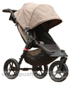 Baby Jogger City Elite Sand with seat upright - click for larger image