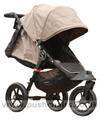 Baby Jogger City Elite Sand with seat reclined - click for larger image