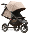 Baby Jogger City Elite Sand with seat reclined and kicker raised - click for larger image