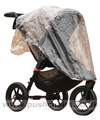 Baby Jogger City Elite Sand with Rain Cover fitted- click for larger image