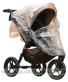 Baby Jogger City Elite Sand with Rain Cover fitted - click for larger image