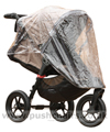 Baby Jogger City Elite Sand with Rain Cover fitted showing zippered opening - click for larger image