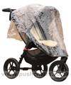 Baby Jogger City Elite Sand with Lambskin Stroller Fleece & Rain Cover fitted - click for larger image