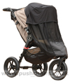 Baby Jogger City Elite with Shade-a-Babe UV Sunshade & Lamsbkin Stroller Fleece - click for larger image