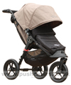 Baby Jogger City Elite Sand with Baby Jogger Footmuff Black - click for larger image