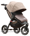Baby Jogger City Elite Sand with Baby Jogger Footmuff Stone - click for larger image