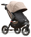 Baby Jogger City Elite Sand with Black Outlast Snuggle Bag - click for larger image
