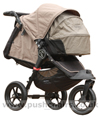 Baby Jogger City Elite Sand with Compact Carrycot Sand (sun hoods closed) - click for larger image