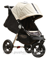 Baby Jogger City Elite Stone with seat reclined & kicker raised - click for larger image