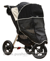 Baby Jogger City Elite Stone with Lambskin Stroller Fleece and Shade-a-Babe UV Sun Protection - click for larger image