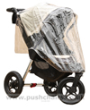 Baby Jogger City Elite Stone with Lambskin Stroller Fleece & Rain Cover - click for larger image