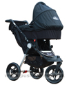 Baby Jogger City Elite Stone with Black Carrycot fitted- click for larger image