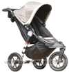 Baby Jogger City Elite Stone with Sun Hood partially open - click for larger image