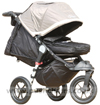 Baby Jogger City Elite Stone with Kicker Raised & Baby Jogger Footmuff - click for larger image
