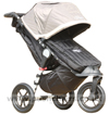 Baby Jogger City Elite Stone upright with Baby Jogger Footmuff - click for larger image