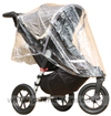 Baby Jogger City Elite Stone seat upright with Rain Covered fitted - click for larger image