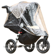 Baby Jogger City Elite Stone seat reclined with Rain Covered fitted - click for larger image